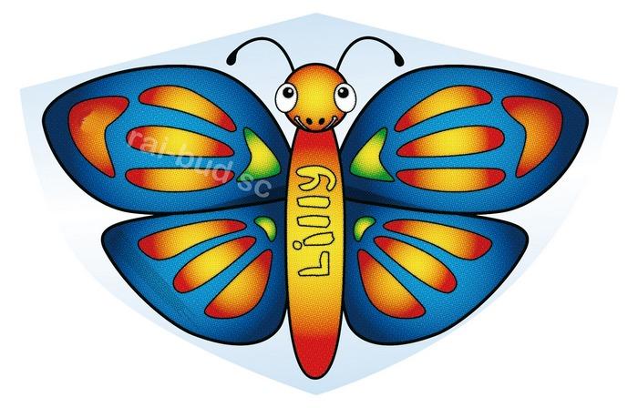 latawiec motyl LILLY, latawiec, latawce, samolot, wiropłat,